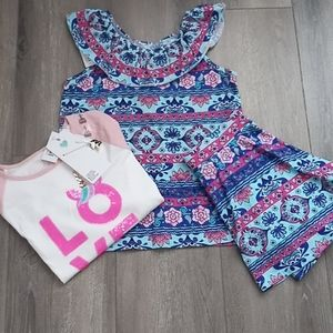 NWT Children's Place Skirt Set & Necklace